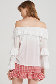 storets.com Snow Tiered Frill Blouse