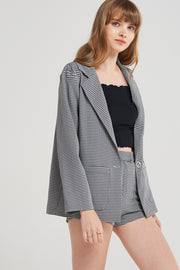storets.com Kyra Shepherd Check Jacket Set