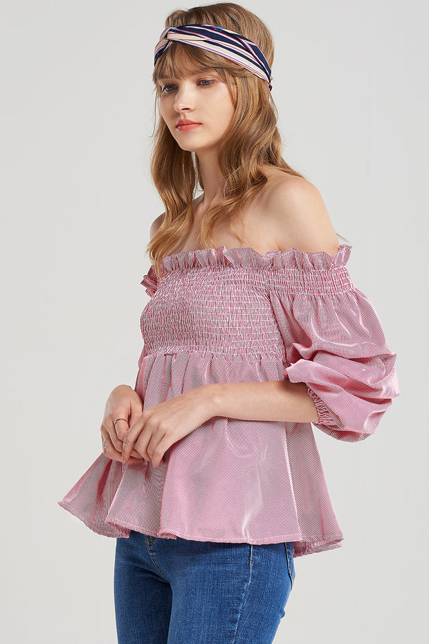 storets.com Blair Smocked Puff Blouse