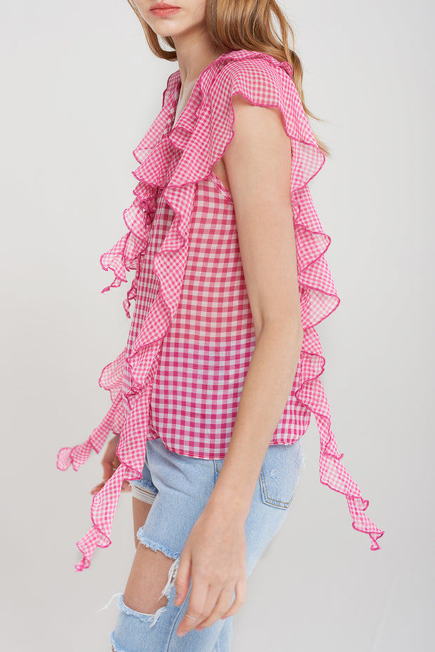Dorothy Gingham Mix Blouse