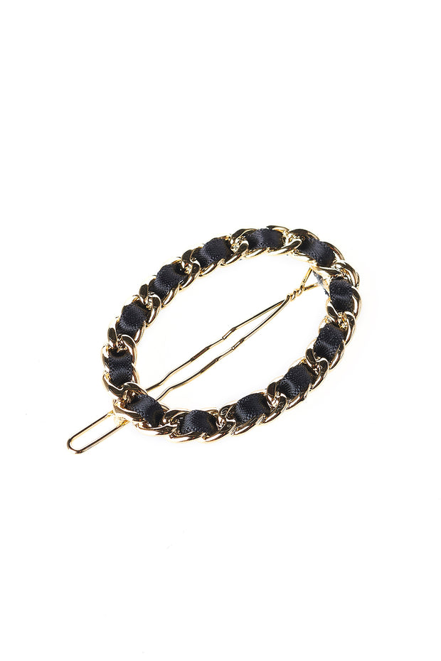 Gold Chain Ribbon Hairpin