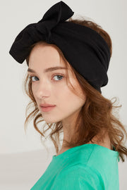 Ribbed Knot-Bow Headwrap by STORETS