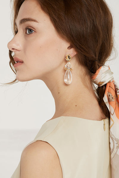 Geo Drop Earrings by STORETS