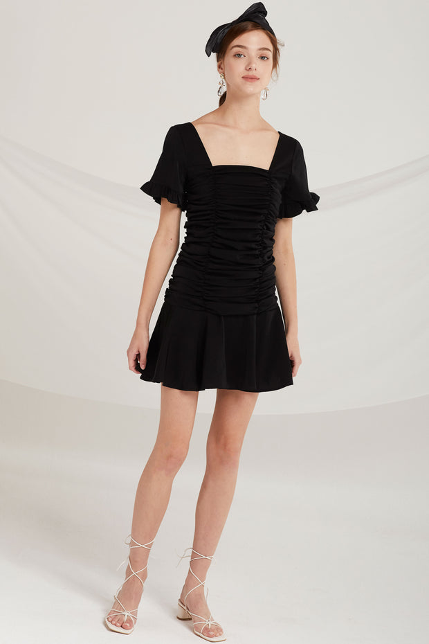 Anaya Square Neck Cinched Dress