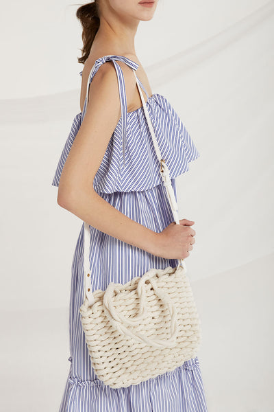 Chuny Braided Tote Bag by STORETS