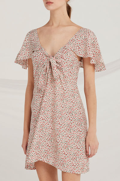 Camryn Floral Smock-Back Dress by STORETS