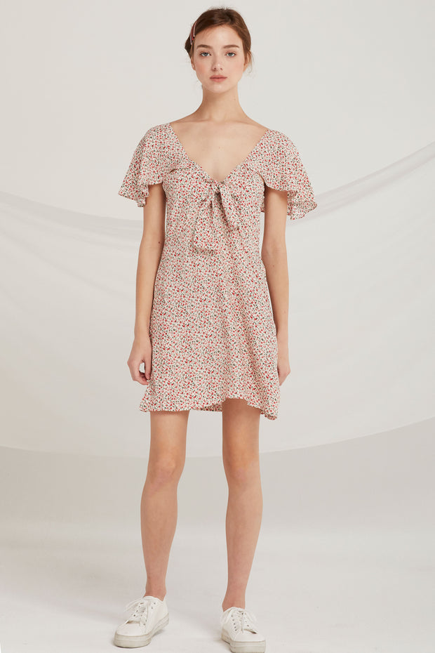 Camryn Floral Smock-Back Dress