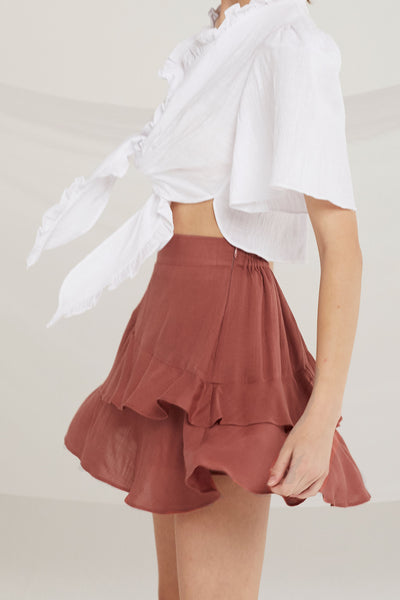 Charley Asymmetric Layered Skirt