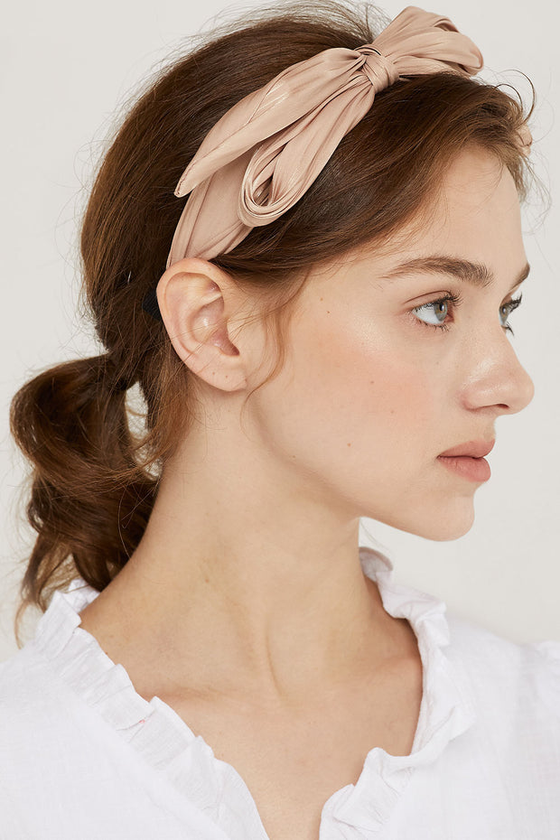 storets.com Satin Knotted Bow Headband