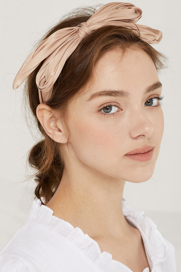 Satin Knotted Bow Headband