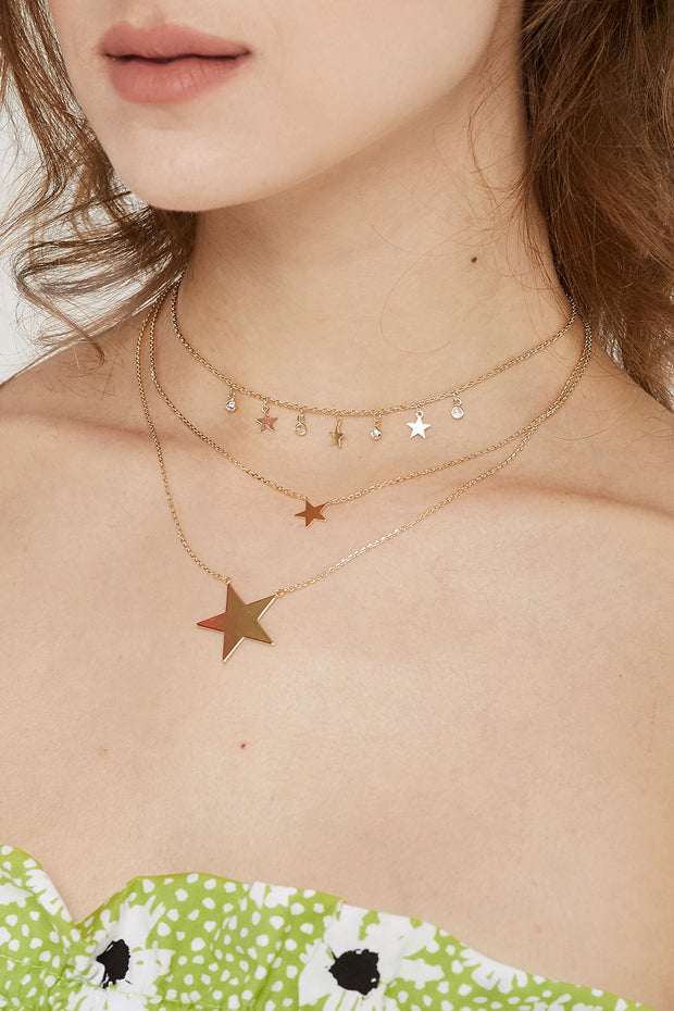 Multi-Layer Star Necklace by STORETS