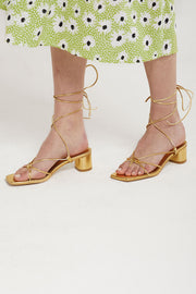 Lace Up Strappy Sandal Heels by STORETS