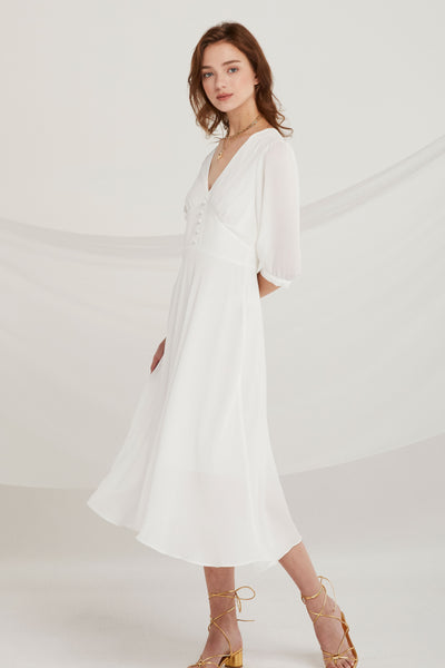 Christina Sheer Chiffon Dress