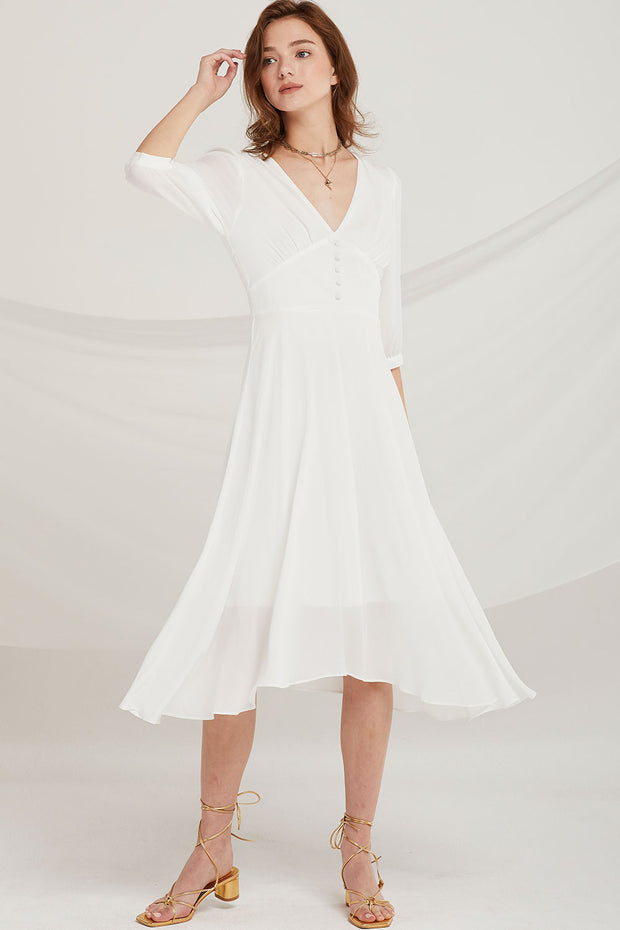 Christina Sheer Chiffon Dress by STORETS