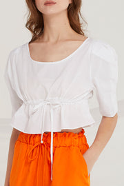 Mavis Flounce Crop Top by STORETS