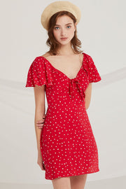 Carmen Heart Print Dress by STORETS