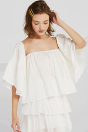 Estrella Off-the-Shoulder Flounce Top