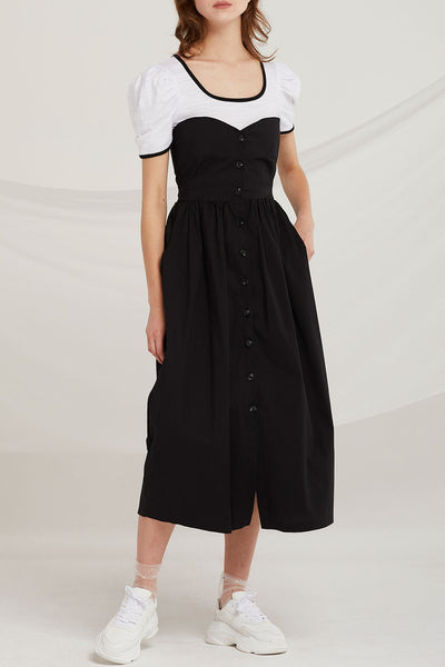 Haisley Buttoned Tube Dress by STORETS