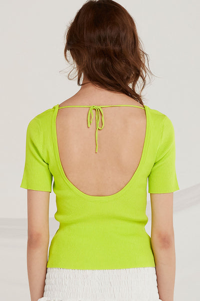 Raven Plunge Back Top by STORETS