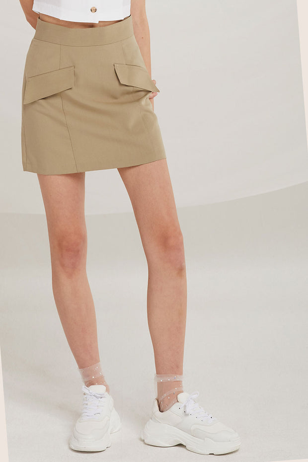 Alejandra Flap Pocket Skirt by STORETS