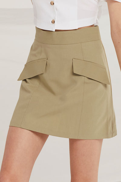 Alejandra Flap Pocket Skirt