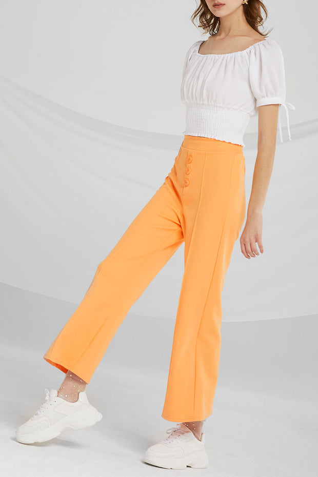 Iliana Ribbed Bootcut Pants