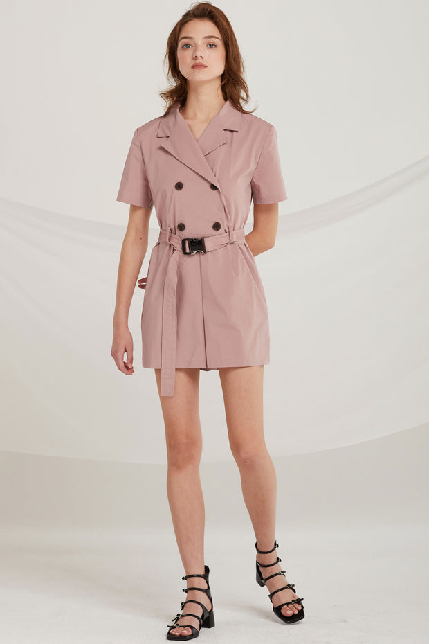 Kendra Double Breasted Blazer Playsuit