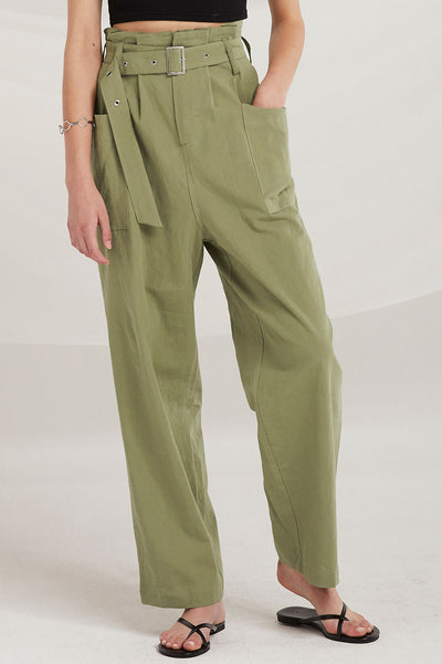 Lainey Paperbag Waist Utility Pants by STORETS