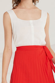 Journi Buttoned Knit Tank by STORETS