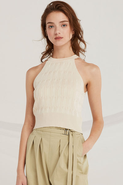 Rivka Halter Knit Cami Top by STORETS