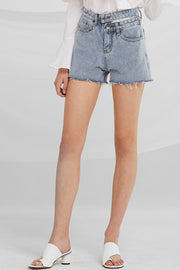 Kassidy Cut-out Waist Denim Shorts by STORETS