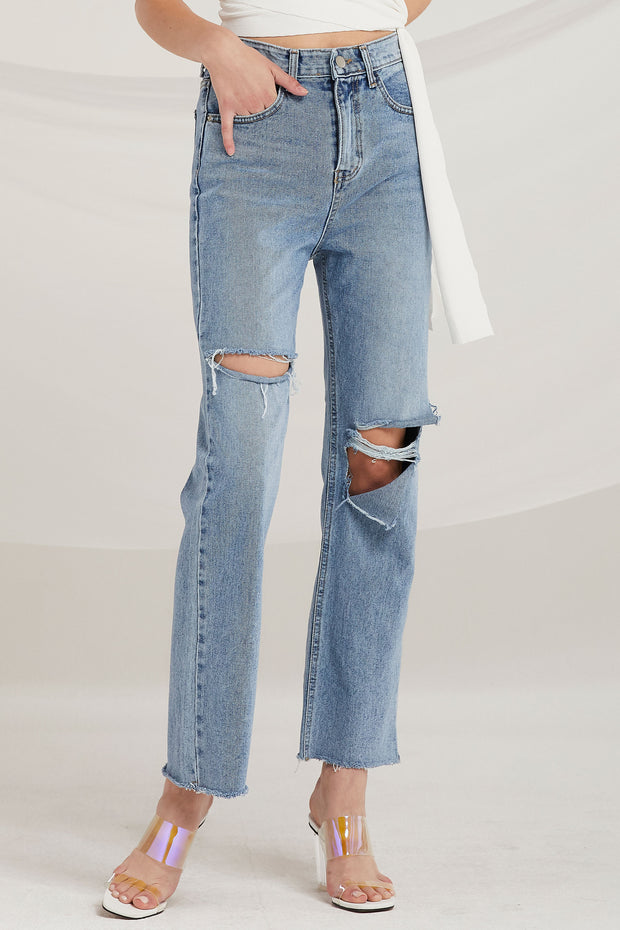 Marilyn Ripped Bootcut Jeans