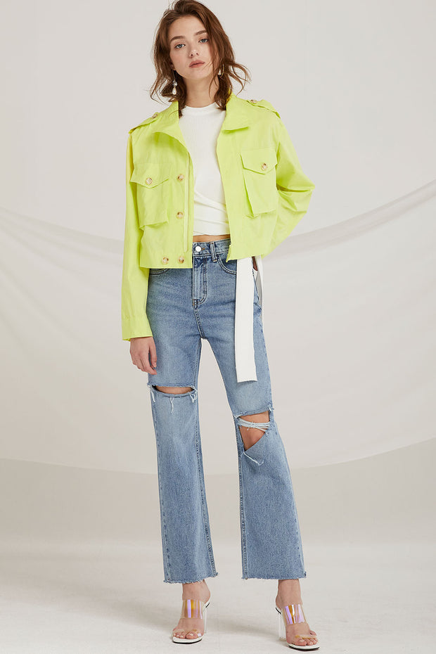 Amaia Utility Crop Jacket by STORETS