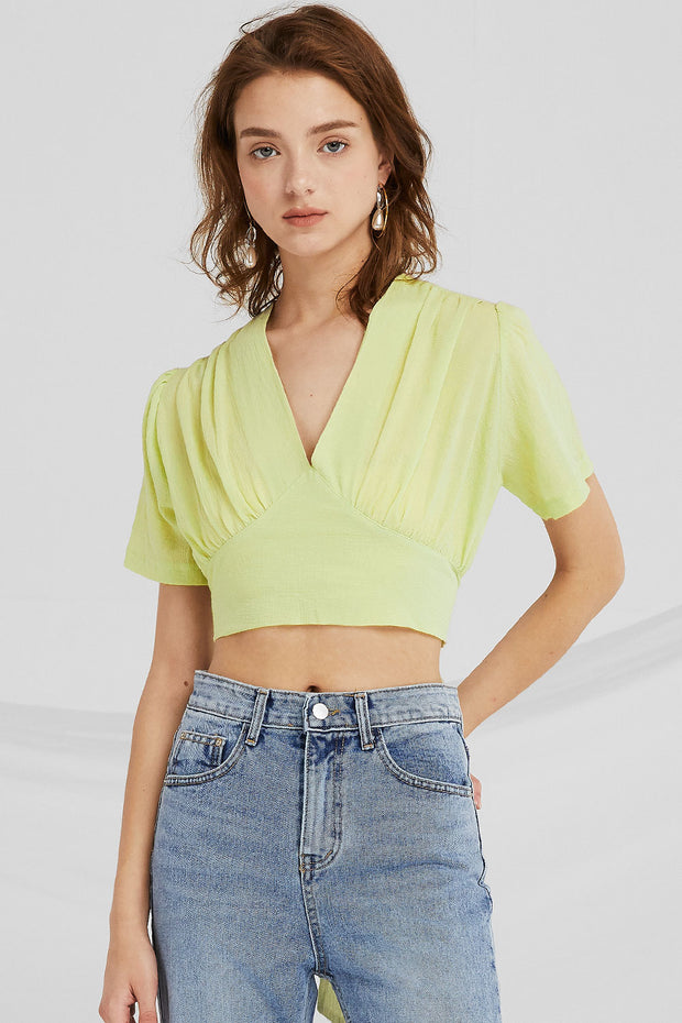 Elisa Tie Back Crop Top