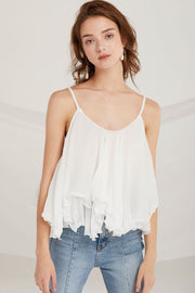 Bethany Tiered Ruffle Cami Top by STORETS