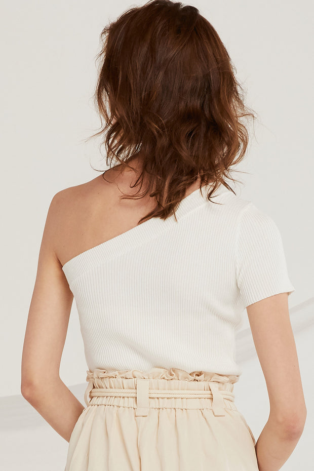 Cara One-Shoulder Knit Top
