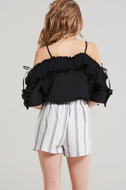 Rose Wavy Frill Blouse