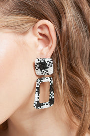 storets.com Check Two Square Earrings