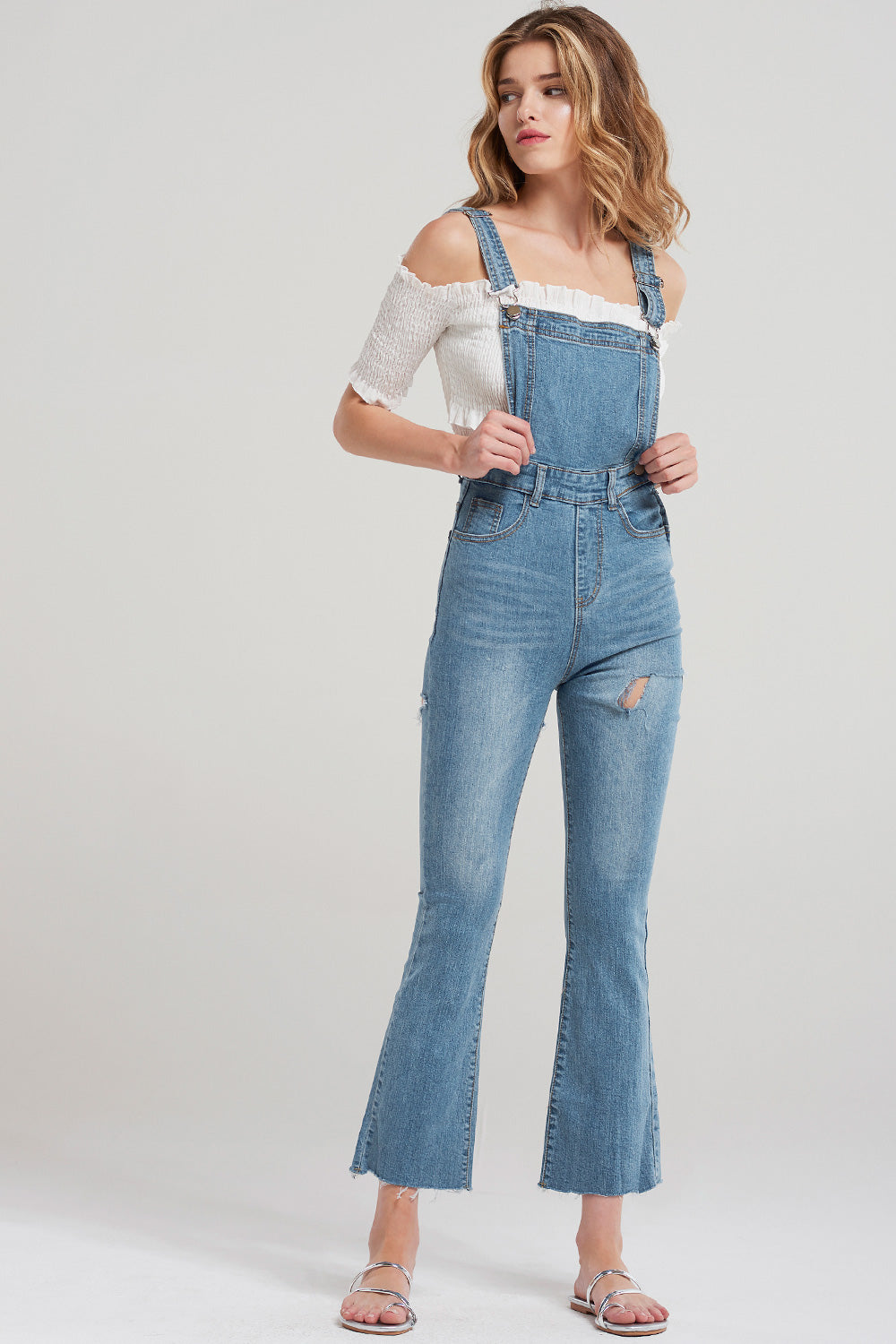 Ellie Denim Overalls-Blue