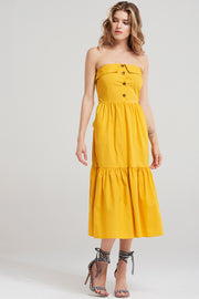 Julia Long Top Dress-Yellow