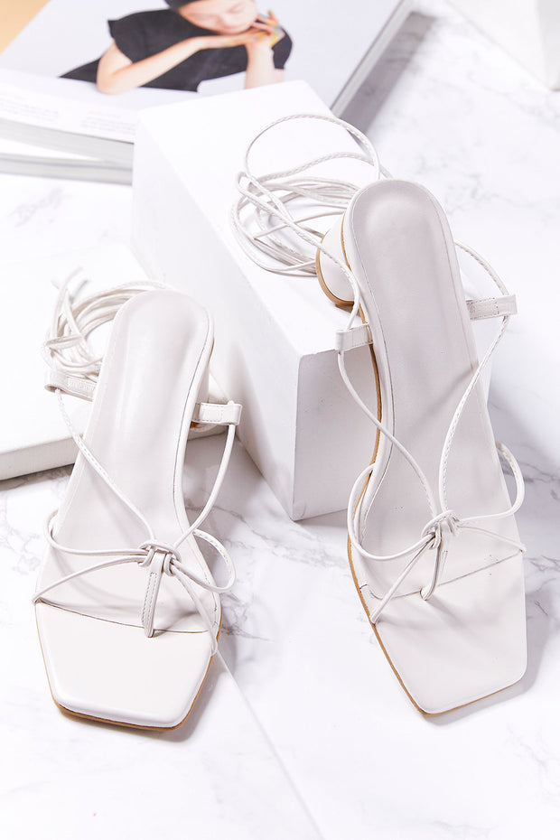 Lace Up Strappy Sandal Heels
