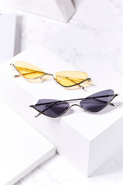 Retro Triangle Sunglasses w/ Half Frame