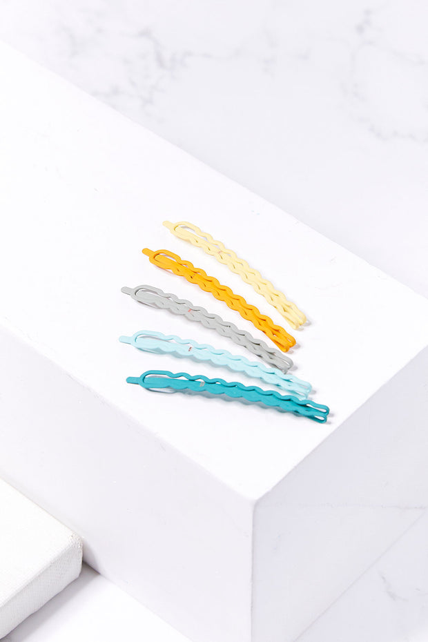 Wavy Bobby Pin Set