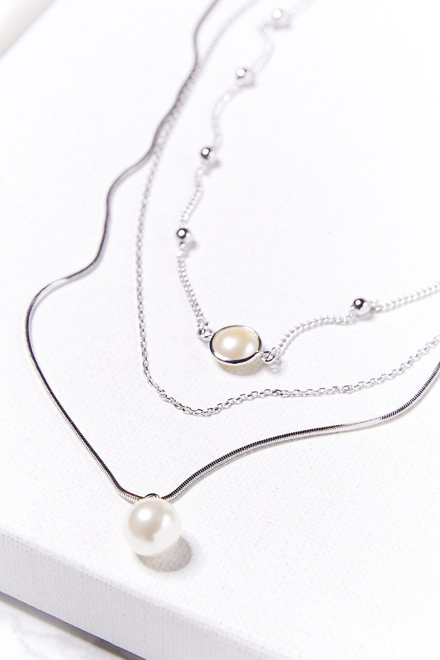 storets.com Multi Layered Pearl Necklace