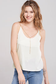 Karla Chain Strap Camisole-Ivory