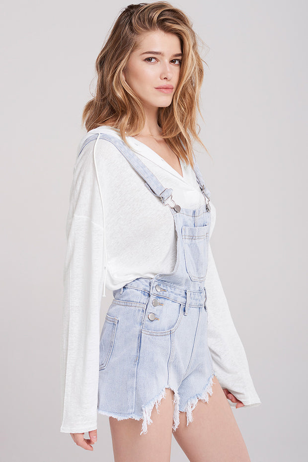 Kodie Washed-out Denim Overalls-Skyblue