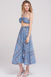 London Holiday Pattern Top-Skyblue