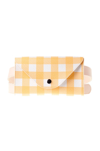 Gingham Check Belt Bag-Yellow