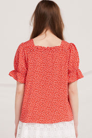 Micah Sweetheart Neck Blouse
