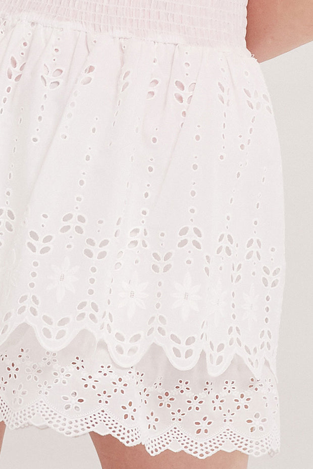 Brenna Tiered Eyelet Lace Skirt